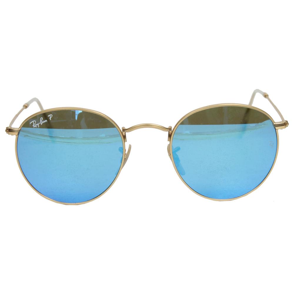 06bb445d8c501 Óculos Ray Ban Classic Round Azul   Brechó de luxo - prettynew