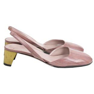 Sapato-Gucci-Eel-Skin-Sling-Rosa