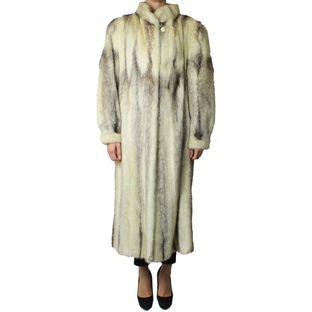Casaco-de-pele-the-fur-vault-rajado-longo