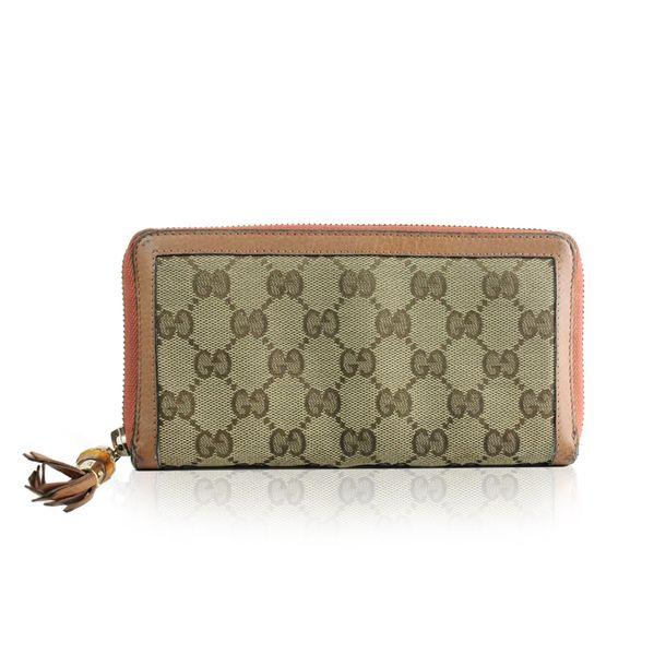 b390c4468c2a1 Carteira Gucci Jacquard Rosa
