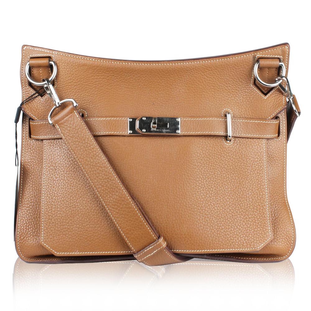 Bolsa Hermes Jypsiere 34 em Couro Clemence Caramelo 611efdccf5