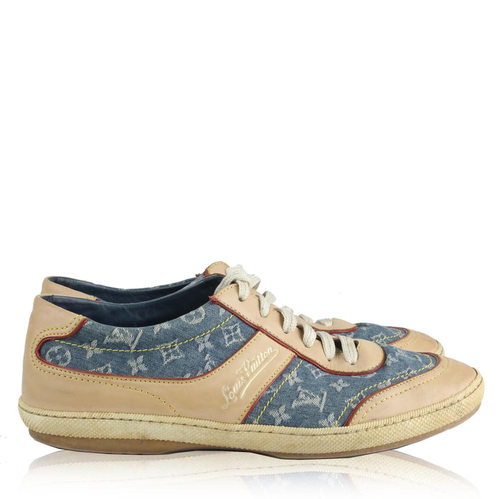 663ca5fb8 Tênis Louis Vuitton Jeans| Brechó de luxo | Pretty New - prettynew