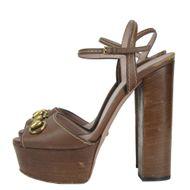 Sandalia-Gucci-Couro-Marrom-Horsebit