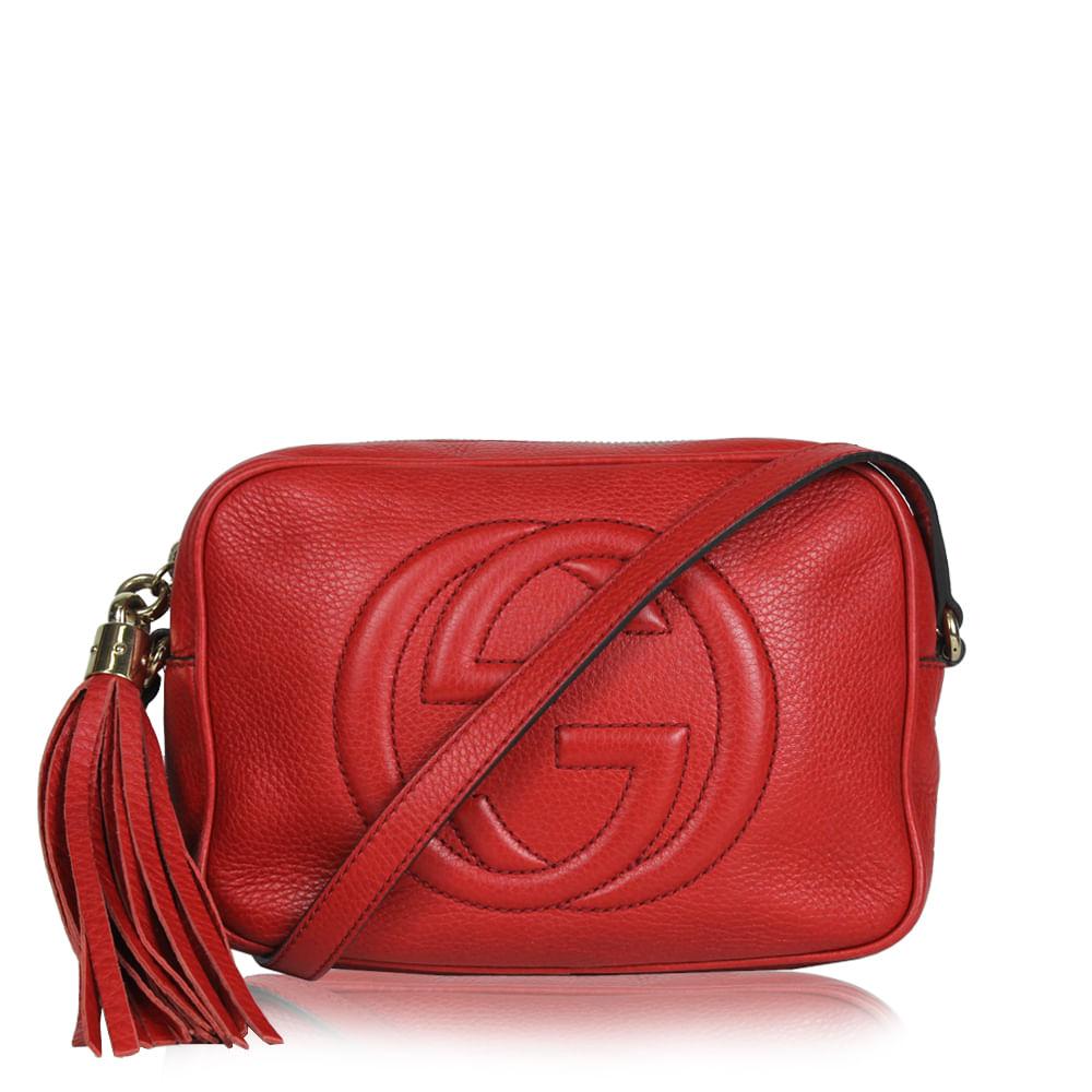 c0a15b8c8d6 Bolsa Gucci Soho Disco Crossbody Vermelha. Previous