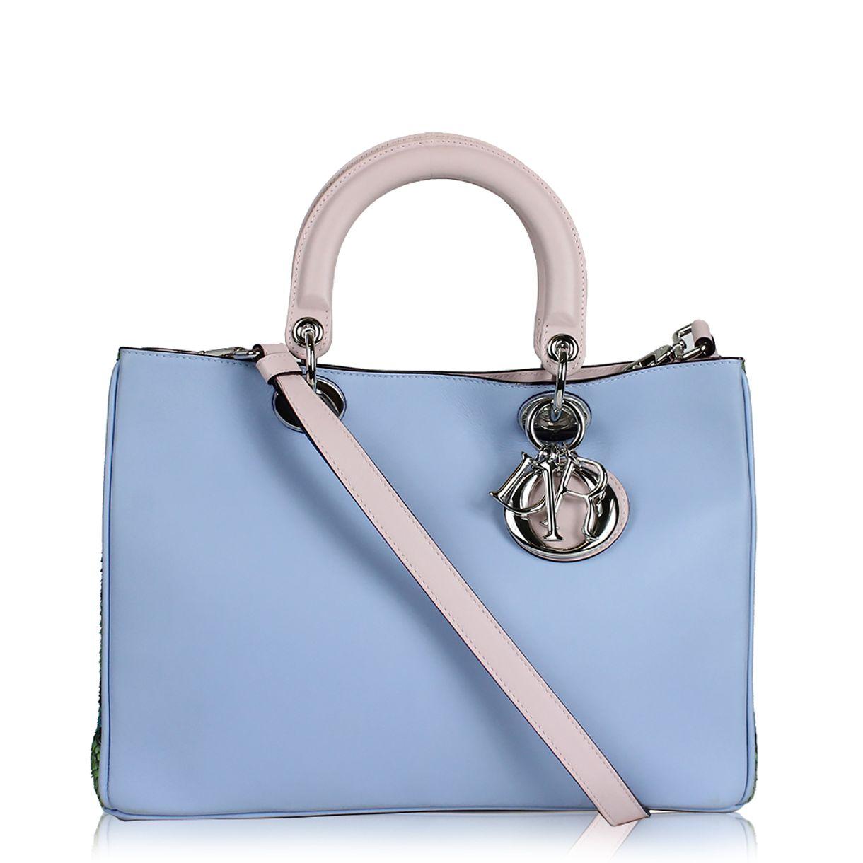 Bolsa-Christian-Dior-Diorissimo-Azul