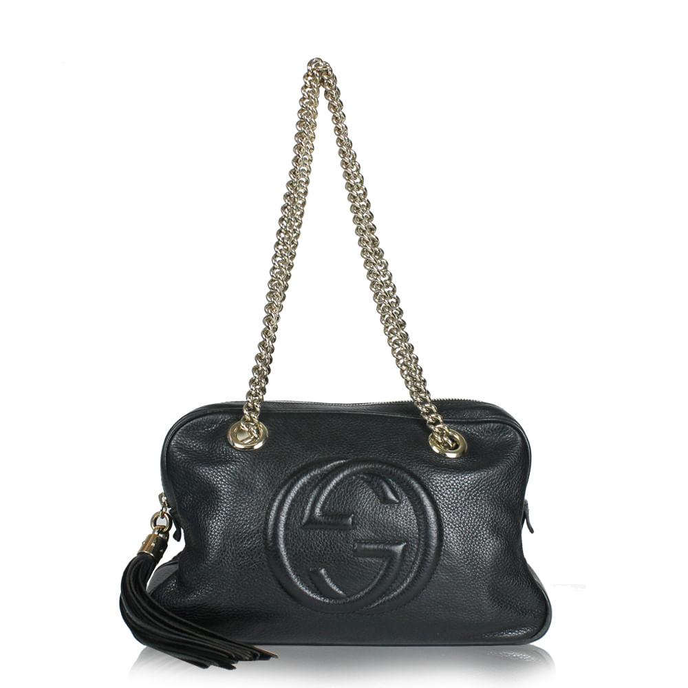 a09c87bfed Bolsa Gucci Soho Chain | Brechó de luxo - prettynew