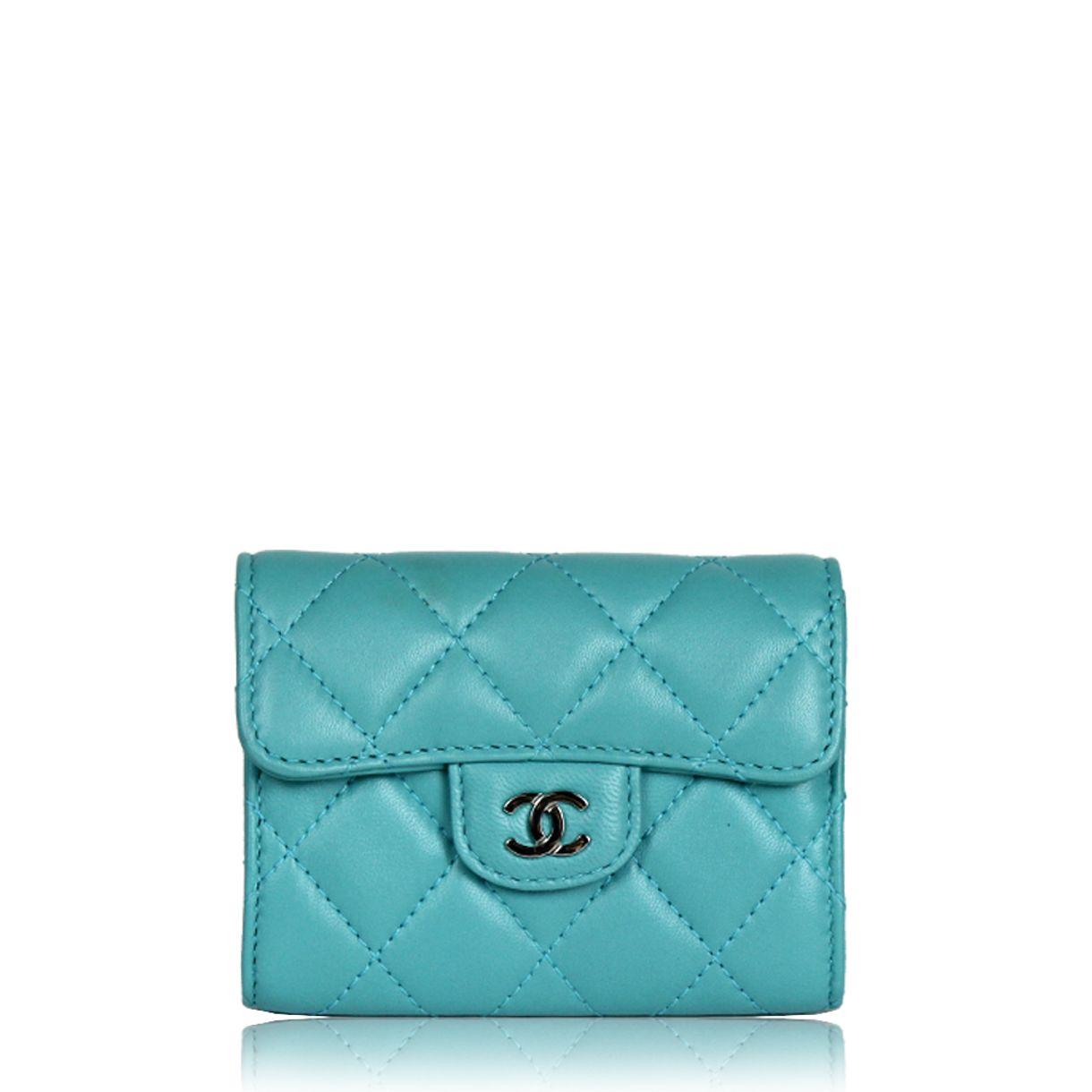 carteira-chanel-small-zip--pocket-turquesa