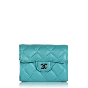carteira-chanel-small-zip--pocket-turquesa