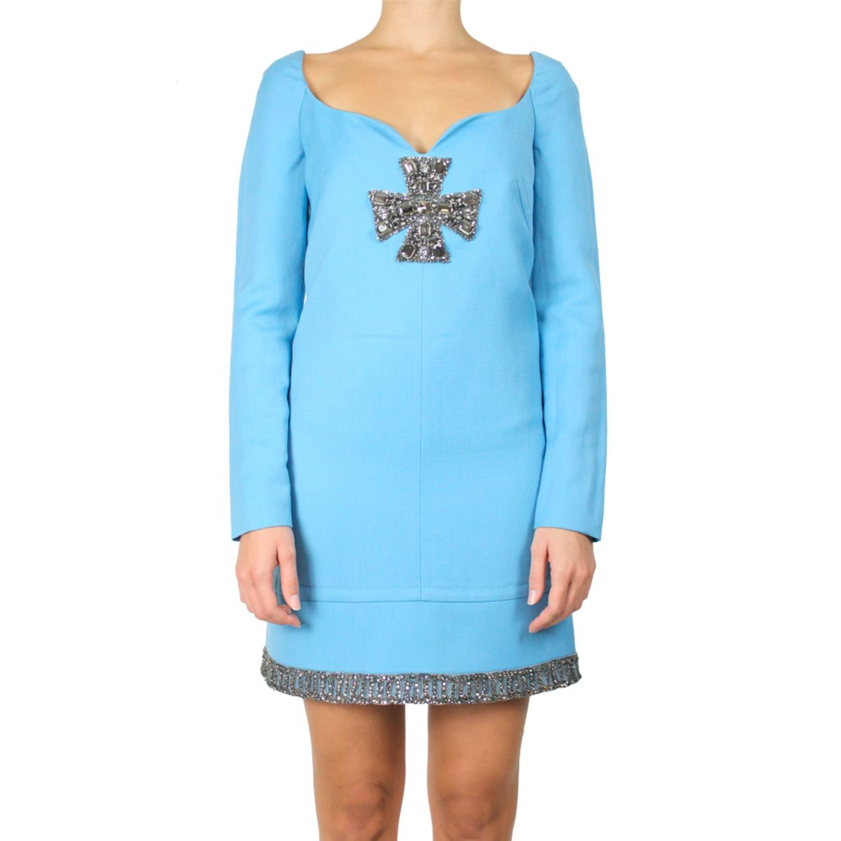 Vestido-Emilio-Pucci-Azul-Pedrarias