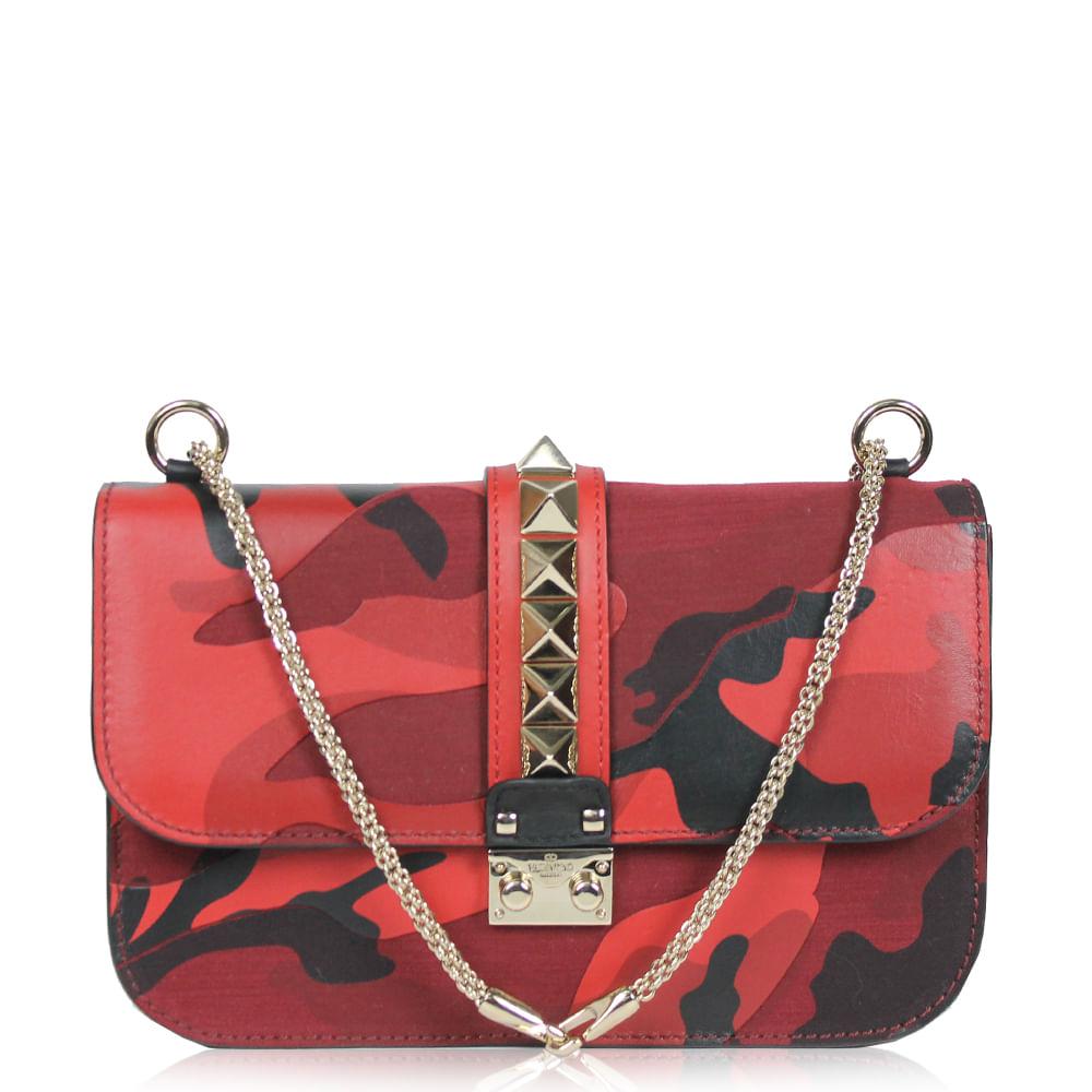 0289039bf Bolsa Valentino Lock Camouflage Vermelha. Previous