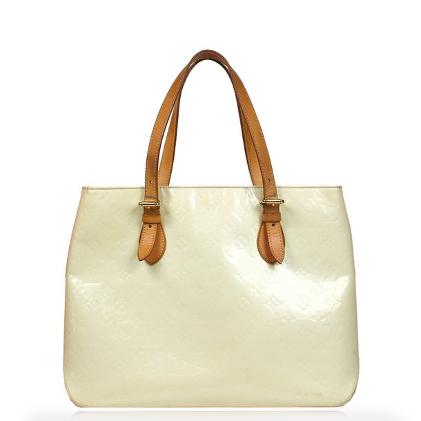 Bolsa-Louis-Vuitton-Verniz-Brentwood-Branca