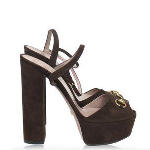 Sandalia-Gucci-Horsebit-Camurca-Marrom