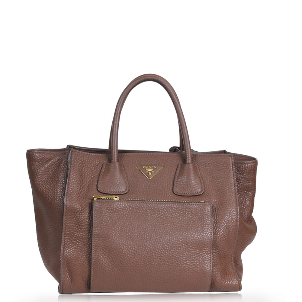 7439e3d523f Bolsa Prada Palissandro Vitello Daino Marrom. Previous