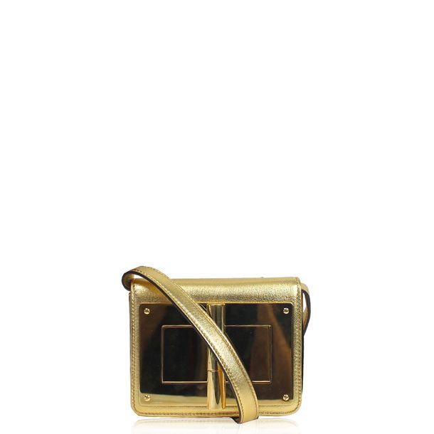 Bolsa-Tom-Ford-Couro-Dourado
