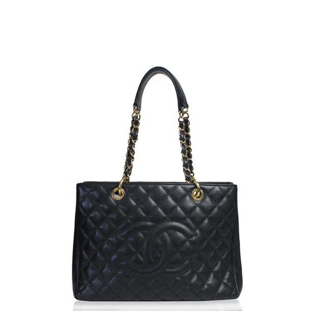 Bolsa-Chanel-Shopper-Caviar-Preto-Grande
