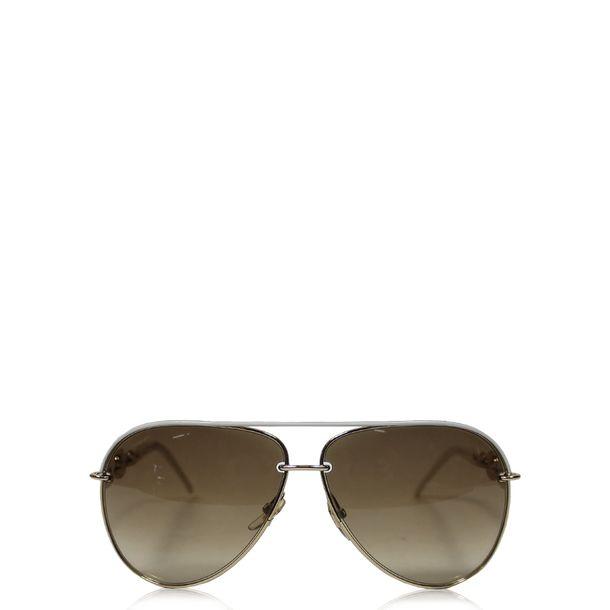 Oculos-Gucci-Chain-Branco-e-Dourado