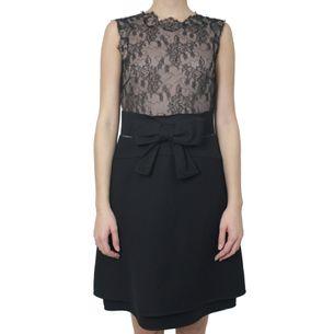 Vestido-Valentino-Renda-e-Laco-Preto