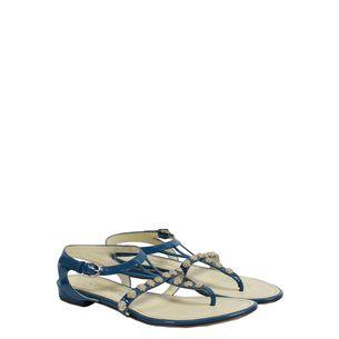 Sandalia-Rasteira-Chanel-Verniz-Azul