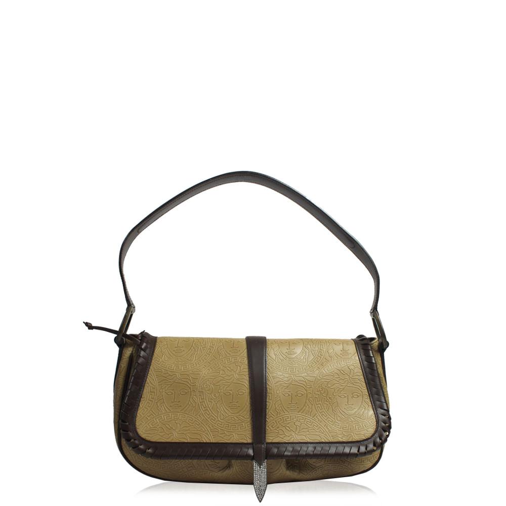 9ebc2d9782d Bolsa Versace Couro Caramelo