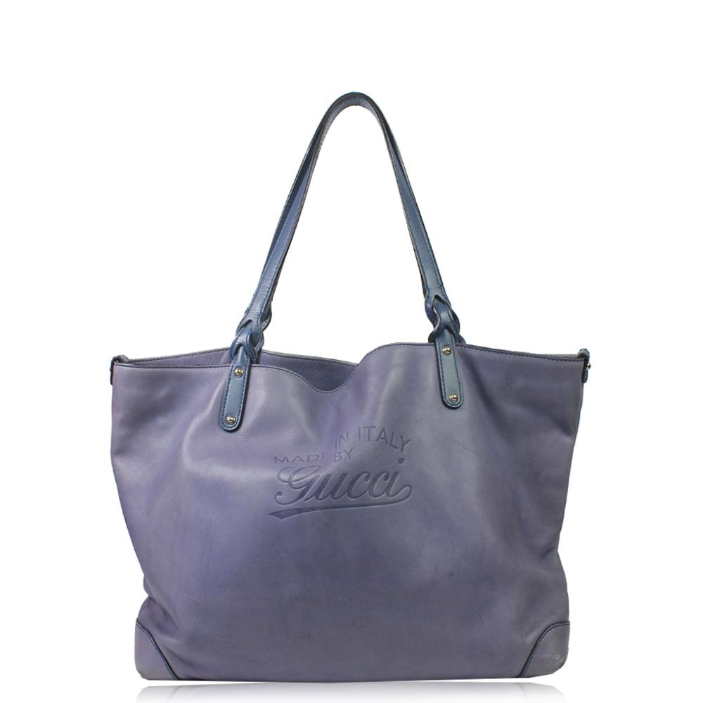 Bolsa Gucci Tote Couro   Brechó de luxo - prettynew ff512040c5
