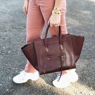 Bolsa-Celine-Luggage-Vinho-Verso