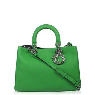 Bolsa-Christian-Dior-Diorissimo-Couro-Verde