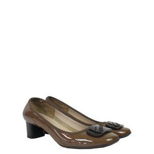 Sapato-Salvatore-Ferragamo-Verniz-Marrom