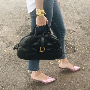 Bolsa-Christian-Dior-Saddle-Ostrich