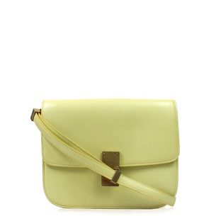 -Bolsa-Celine-Box-Couro-Amarelo