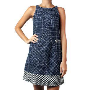 Vestido-Chanel-Tweed-Azul