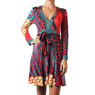 Vestido-Issa-Estampado-Vermelho-e-Turquesa