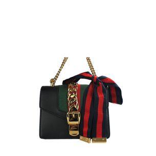 Bolsa-Gucci-Sylvie-Mini-Preta