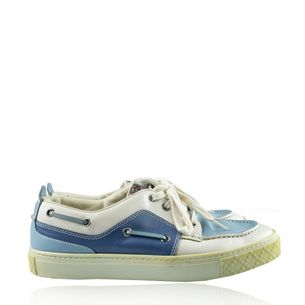 Tenis-Gucci-Couro-Branco-Azul