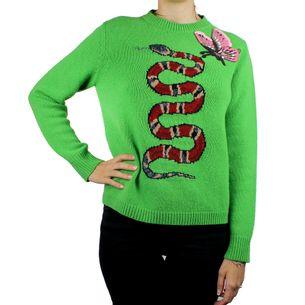 Sueter-Gucci-Tricot-Verde-Aplicacao