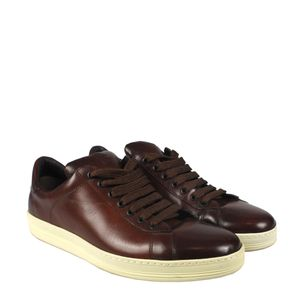 Tenis-Tom-Ford-Couro-Marrom