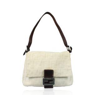 Bolsa-Fendi-Baguette-Monograma-Tecido-Off-White-