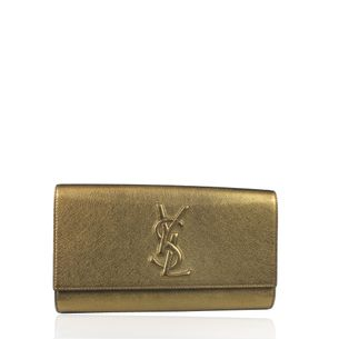 Clutch-Saint-Laurent-Belle-de-Jour-Dourada