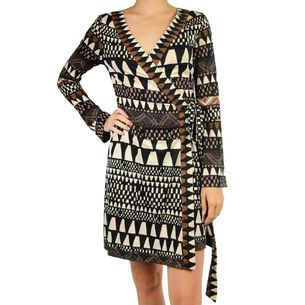 Vestido-Wrap-Dress-Diane-Von-Furstenberg-Estampado-Preto-Marrom-Off-White