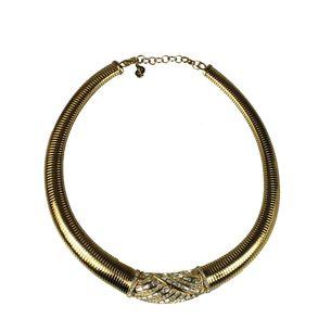 Colar-Christian-Dior-Vintage-Dourado-com-Cristal