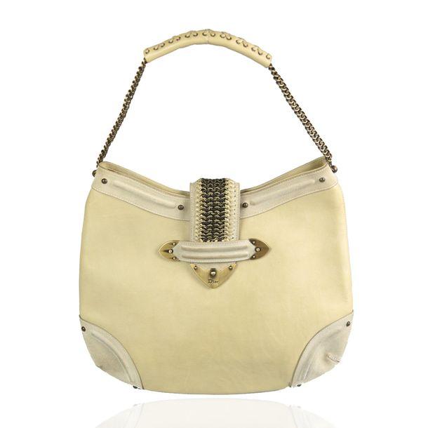 Bolsa-Christian-Dior-Couro-e-Camurca-Off-White-Vintage