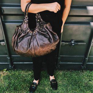 Bolsa-Gucci-Guccissima-Couro-Marrom-Escuro