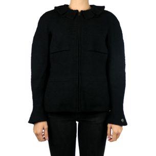 Blazer-Chanel-Tweed-Preto-com-Ziper