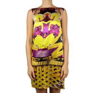 Vestido-Mary-Katrantzou-Estampado-Rosa-e-Amarelo