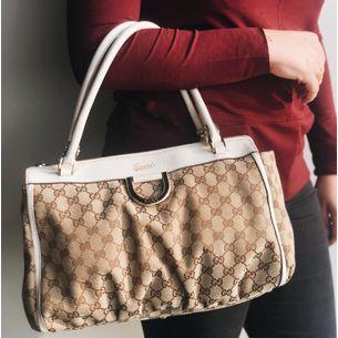 Bolsa-Gucci-Jacquard-Couro-Branco
