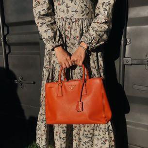 Bolsa-Prada-Galleria-Saffiano-Papaya