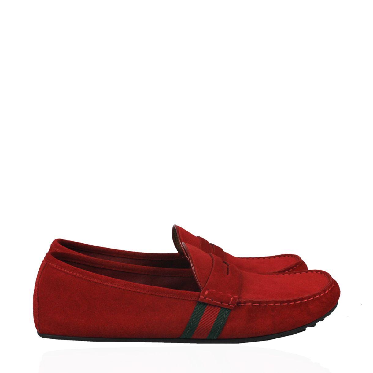 Mocassim-Gucci-Camurca-Vermelho