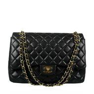 Bolsa-Chanel-Single-Flap-Couro-Preto