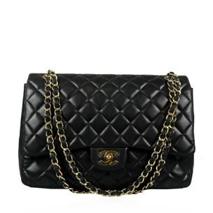 Bolsa-Chanel-Single-Flap-Couro-Preto