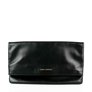 Clutch-Saint-Laurent-Couro-Preto