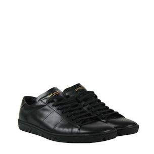 Tenis-Saint-Laurent-Signature-Court-Classic-SL-01-Preto
